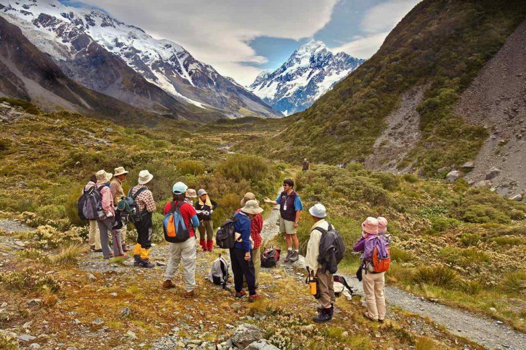 Групповые туры в Новую Зеландию: пешеходная прогулка